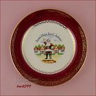 SANTA CLAUS LAND SOUVENIR COLLECTOR PLATE