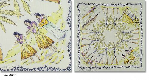 VINTAGE ISLANDS SOUVENIR HANDKERCHIEF