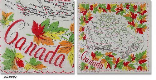 SOUVENIR HANDKERCHIEF, CANADA