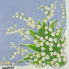 LILY OF THE VALLEY VINTAGE HANDKERCHIEF