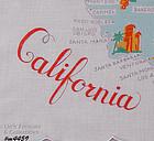 STATE SOUVENIR HANDKERCHIEF, CALIFORNIA