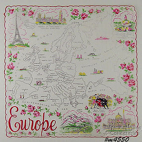 SOUVENIR HANDKERCHIEF, EUROPE