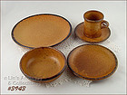 McCOY POTTERY � CANYON DINNERWARE SERVICE FOR 4 (20 PCS.)