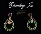 EISENBERG ICE � RHINESTONE WREATH SHAPED EARRINGS