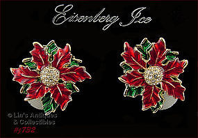 EISENBERG ICE � POINSETTIA SHAPED EARRINGS