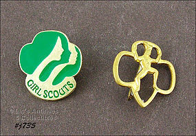LOT OF TWO GIRL SCOUT PINS