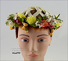 FRUIT AND FLOWERS VINTAGE HAT