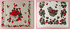 Pair of Lovely Strawberry Design Vintage Linen Kitchen Towels