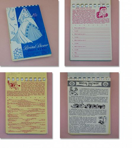 Vintage Bridal Shower Party Games Book Copyright 1952
