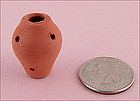 Miniature Hen and Chicks Clay Pot for Doll Houses, Etc.