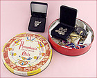 Assorted Vintage Costume Jewelry in Collectible Vintage Tin