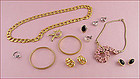 Assorted Lot of Signed Costume Jewelry for Wear or Re-Sale