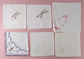 Choice of Vintage Monogram Handkerchiefs (Some have been sold)