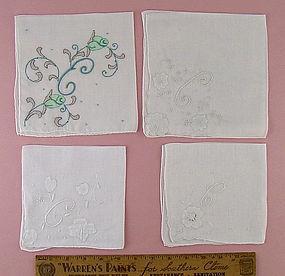 Choice of Vintage E or C Monogram Handkerchiefs