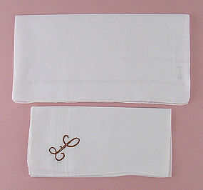 Choice of Vintage Monogram Men's Hankies Handkerchiefs