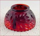 Amberina Fenton Fairy Lamp Glass Shade