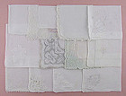 One Dozen Vintage Barely Imperfect White and Wedding Hankies