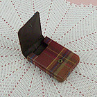 Longaberger Homestead Tobosco Plaid Credit Card/Business Card Holder