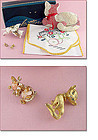 Assortment of Cat Theme Items -- Linen and Jewelry -- in a SUPER Box