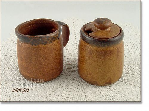 McCOY POTTERY � CANYON CREAMER AND SUGAR