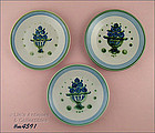LOT OF THREE M.A. HADLEY BREAD / DESSERT PLATES