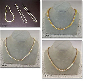 CHOICE OF VINTAGE FAUX PEARL NECKLACES