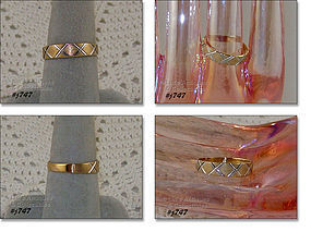 10K YELLOW GOLD WEDDING BAND SIZE 8
