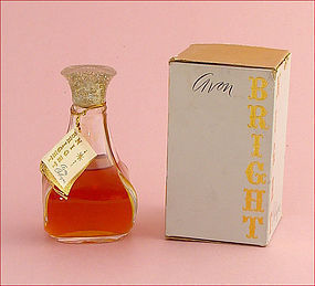VINTAGE AVON 4 OUNCE BOTTLE OF BRIGHT NIGHT COLOGNE WITH ORIGINAL BOX