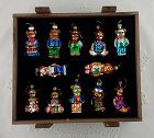 THOMAS PACCONI COLLECTION OF 12 GLASS TEDDY BEAR ORNAMENTS