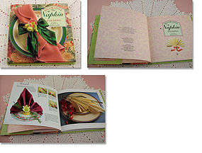 DECORATIVE NAPKIN FOLDING BOOK BY PAMELA WESTLAND