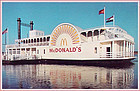 RIVERBOAT McDONALDS, ST. LOUIS, MO VINTAGE POSTCARD