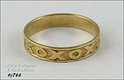 10K YELLOW GOLD X AND O HUGS AND KISSES BAND RING SIZE 7