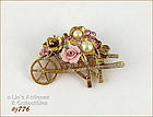 UNMARKED 1928 FLOWER CART PIN
