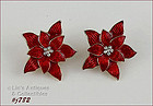 EISENBERG ICE � POINSETTIA CLIP STYLE EARRINGS