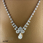 EISENBERG ICE � CLEAR RHINESTONE NECKLACE