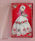 VINTAGE CHRISTMAS HANDKERCHIEF GIRL MINT IN BOX