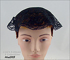 VINTAGE BLACK LACE CHAPEL HEAD COVERING