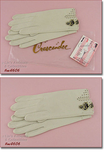 VINTAGE CRESCENDOE GLOVES MINT IN PACKAGE SIZE 6 ½