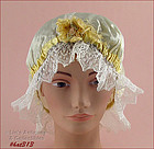VINTAGE LADIES NIGHT CAP / SLEEPING CAP