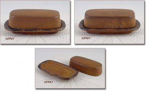 McCOY POTTERY VINTAGE CANYON COVERED BUTTER DISH