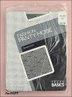 VINTAGE TREND BASICS PANTYHOSE BLACK WITH WOVEN DESIGN