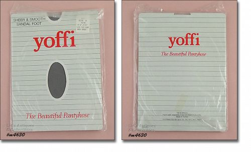 VINTAGE YOFFI PANTYHOSE MEDIUM GREY