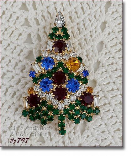 EISENBERG ICE CLASSIC CANDLE TREE CHRISTMAS PIN