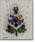 EISENBERG ICE CLASSIC CANDLE TREE CHRISTMAS PIN