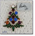 Eisenberg Ice Large Candle Tree Christmas Pin