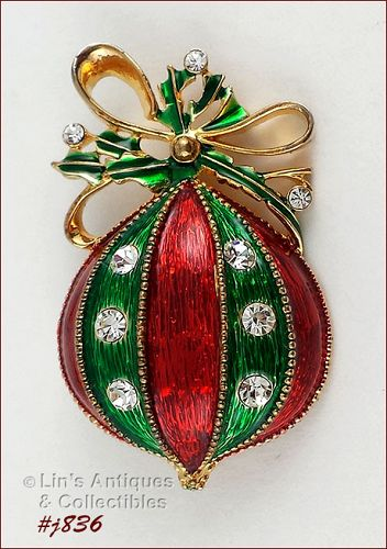 EISENBERG ICE � CHRISTMAS ORNAMENT SHAPED PIN
