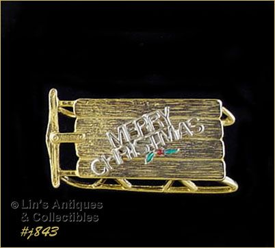 EISENBERG ICE MERRY CHRISTMAS CHILD'S SLED PIN 4 AVAILABLE IN LISTING