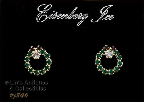 EISENBERG ICE � CHOICE OF WREATH SHAPED PIERCED EARRINGS