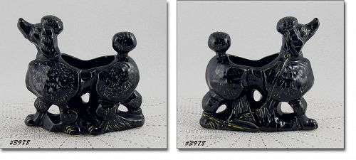 McCOY POTTERY � BLACK POODLE PLANTER