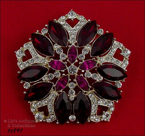 EISENBERG ICE � FIVE SIDED RHINESTONE PIN